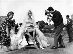 No one wears a wedding dress (or 9) like Brigitte Bardot