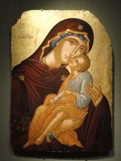 Icon by Angelos Akotantos, c. Cleveland Museum of Art. Icon of the Mother of God and Infant Christ, tempera and gold on wood panel by Angelos Akotantos, c. Cleveland Museum of Art Byzantine Icons, Byzantine Art, Religious Icons, Religious Art, Madonna, Religion Catolica, Cleveland Museum Of Art, Art Icon, Orthodox Icons