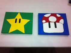 Mario decor for Marc's room :)