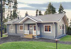 Selkeää suomalaista arkkitehtuuria edustavassa Kontio Aaltolassa riittää tilaa yhdessä tasossa isommallekin perheelle.