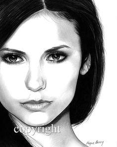 Nina Dobrev Elena Gilbert The Vampire Diaries by TheBerryPress