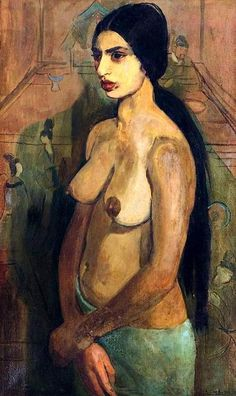 Self portrait of the Indian artist Amrita Sher-Gil (1913-1941) as Tahitian