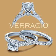 """""""Ultimate brilliance and sparkle!"""" Verragio Couture Engagement Ring Couture-0362 for about $4,000"""