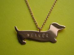WEINER Dog Necklace - Metal Sugar Jewelry