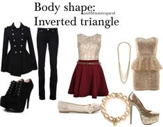 """Body shape: Inverted triangle"" by outfitsonrequest ❤ liked on Polyvore"