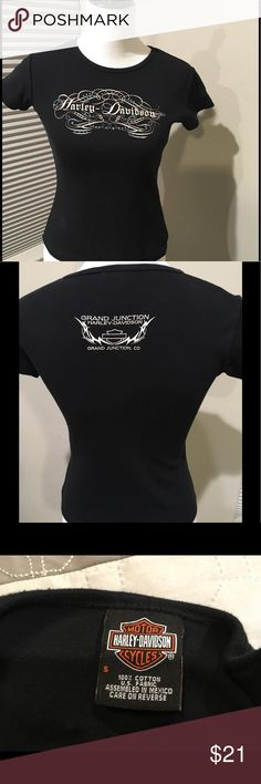 Harley-Davidson tshirt Black with Harley detail.  Bling with blue accents Harley-Davidson Tops Tees - Short Sleeve