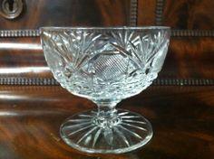 "BEAUTIFUL AMERICAN BRILLIANT CUT GLASS SHERBERT (3 1/2"" TALL)"
