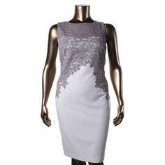 READ CAREFULLY-RALPH LAUREN 3303 NEW Womens Ivory Lace V-Back Cocktail Dress 8  #LaurenRalphLauren #Sexy #Cocktail