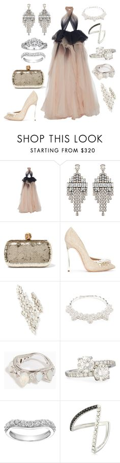 """""""I love layers."""" by mymind-is-a-warrior ❤ liked on Polyvore featuring Marchesa, DANNIJO, Alexander McQueen, Casadei, Yeprem, Yvonne Léon, Fernando Jorge, Rahaminov, Simply Vera and black"""
