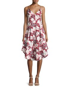 Heart+Strong+Sleeveless+Fit-&-Flare+Dress,+Red+by+Keepsake+at+Neiman+Marcus.