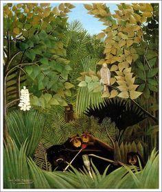 「陽気な道化師たち」  1906年 原画サイズ(145.8×113.4cm)   所蔵:フィラデルフィア美術館
