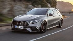 The 2020 Mercedes-AMG S Is the Hottest Hatch With a Wholly Unnecessary and Very Good 416 Horsepower Luxury Sports Cars, Sport Cars, A Class Amg, Mercedes A45 Amg, Volkswagen Golf R, Lamborghini Diablo, Honda Civic Type R, Car Travel, Hatchbacks
