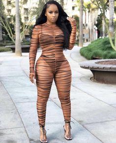 'These Curves Are Dangerous' Cheetah Print Sheer Mesh Jumpsuit Mesh Jumpsuit, Brown Jumpsuits, Badass Style, Wild Girl, Wild Child, Exotic Women, Cheetah Print, Tiger Print, Skinny
