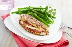 Papillotes de poulet aux herbes de Provence, chèvre et bacon