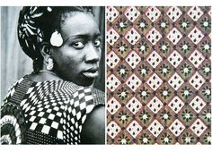 Seydou Keita Portraits - hand block printed paper