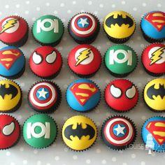 Marvel Cupcakes, Avenger Cupcakes, Lego Cupcakes, Marvel Cake, Mini Cupcakes, Marvel Birthday Cake, 4th Birthday Cakes, Superhero Birthday Party, Lego Birthday