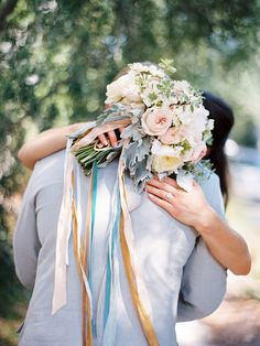 bouquet ribbons | Lauren Kinsey #wedding