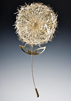 Childhood Day Dream II brooch by Baiyang Qiu- I seriously want this. So simple, yet intricately beautiful.