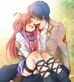 Angel beats- yui and hinata are my favorite couple!