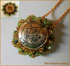 Third Pentacle of Mars * Double Sided * Protection * Talisman * Amulet * Ceremonial Magic * Necklace * Wall hanging