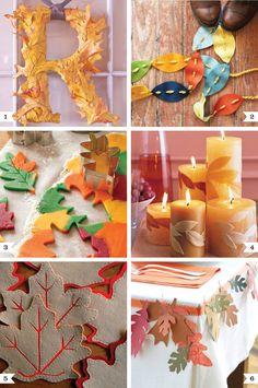 Fall leaf craft tutorials