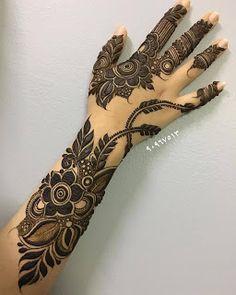 Khafif Mehndi Design, Floral Henna Designs, Henna Art Designs, Mehndi Designs For Beginners, Modern Mehndi Designs, Mehndi Designs For Girls, Mehndi Design Pictures, Wedding Mehndi Designs, Latest Mehndi Designs