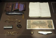 artifacts Lincoln was carrying in his pockets the night he was shot.