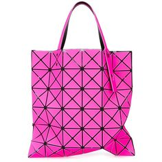 Bao Bao Issey Miyake Lucent-1 Tote ($475) ❤ liked on Polyvore featuring bags, handbags, tote bags, pink tote handbags, tote bag purse, tote hand bags, bao bao by issey miyake and pvc purse