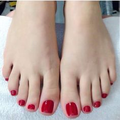 Image may contain: one or more people, shoes and closeup Red Toenails, Long Toenails, Pretty Toe Nails, Pretty Toes, Nice Toes, Manicure Y Pedicure, Beautiful Toes, Feet Nails, Sexy Toes