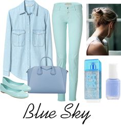 """Blue Sky"" by hipsterfever on Polyvore"