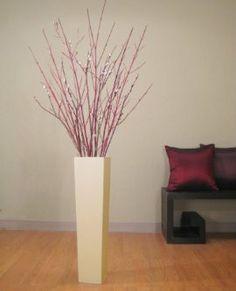 Bamboo Floor Vase With Floral Arrangement Home Sweet