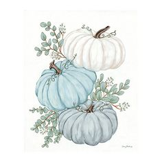 Autumn Painting, Autumn Art, Canvas Art Prints, Canvas Wall Art, Painting Canvas, Pumpkin Art, Blue Pumpkin, Pumpkin Coloring Pages, Holly Springs