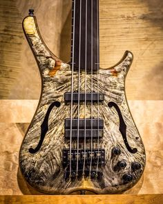 """Infinity 5 string fretless with 3/8"""" California Buckeye Burl top, Ovangkol back and Tigerstripe Ebony fingerboard wood #warwick #framus #warwickbass #framusguitar #bass #guitar #instrument #music #musician #sound #strings #wood #woodporn #play #player #color #colorful #amps #amplification #acoustic #acousticguitar"""