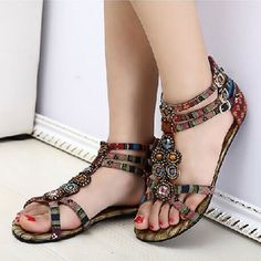 Look trendy and beautiful in this boho inspired vintage sandals    Available in two colors, light beige and dark brown.    Prepaid order only    Delivery will take around 20-30 days    Free shipping to most countries. Please check if free shipping available to your country.    Available in sizes EU 34 to 37.    No exchange requests. Please check size before placing your order. Refund only if you receive the wrong item than the one ordered. | Shop this product here: spree.to/cagr | Shop all…