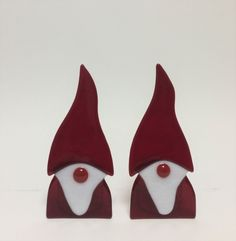 glas nisse nisser jul - fused glass Elf, gnome christmas