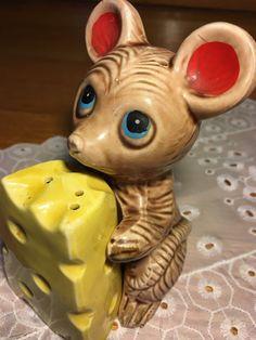 Rare Vintage Japan Ceramic Kitschy Nesting Mouse And Cheese Salt Pepper Skakers    eBay
