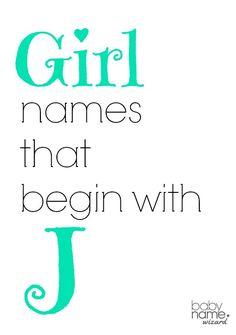 Girl names that begin with J! #babynames