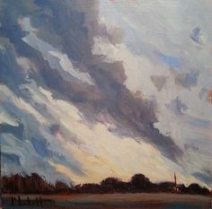Heidi Malott Original Paintings: Ever Feel Like the Sky is Trying to Tell Us Someth...