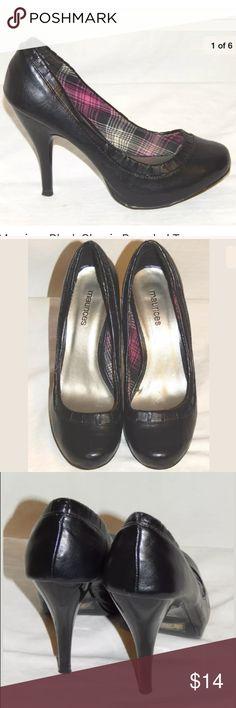 Maurices Black Classic Toe Platform Heels 6.5M Maurices Black Classic Rounded Toe Platform Stiletto Heels Shoes 6.5M Maurices Shoes Platforms