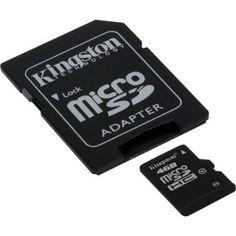 Memoria micro SDHC Kingston 4GB class 10 alta velocidad SDC10/4GB ( adaptador microsdhc a SD incluido )
