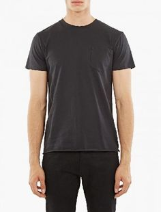 A.P.C. Black Cotton T-Shirt The A.P.C. Cotton T-Shirt for AW16, seen here in black. - - - This t-shirt from A.P.C. is crafted from wonderfully soft cotton and cut to offer a relaxed fit. It is finished with a patch pocket to the http://www.MightGet.com/january-2017-13/a-p-c-black-cotton-t-shirt.asp