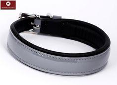 Designer Halsband Lackleder im Platinlook, Halsumfang 42 - 46 cm  Designer Hundehalsband Lackleder im Platinlook gefertigt. Ein ausgefallenes Hundeaccessoire für den ganz besonderen Vierbeiner - ausgewählte Materialien und einzigartige Verarbeitung lassen Ihren Hund zum Trendsetter werden.