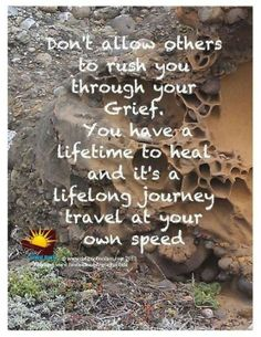 Don't allow others to rush you through your Grief.  You have a lifetime to heal and it's a lifelong journey.  Travel at your own speed.