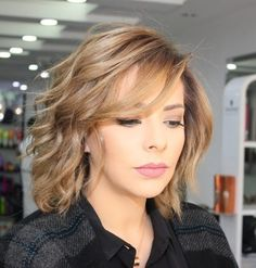Cute Medium Length Haircuts With Layers And Side Bangs