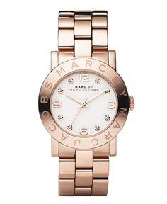 I love rose gold! I just brought a Christian Audigier watch, which not the same, is not unlike this with a leather strap.
