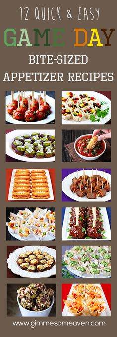 12 easy and delicious gameday recipes that are sure to be crowd favorites! Click through for recipes! Game Day Appetizers, Game Day Snacks, Finger Food Appetizers, Snacks Für Party, Game Day Food, Yummy Appetizers, Appetizer Recipes, Snack Recipes, Cooking Recipes