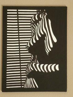 zwart wit schilderij 30/40 cm