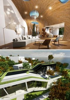 curved house interior exterior