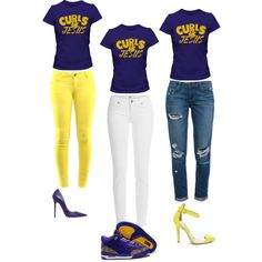 CURLS & JESUS by ray-lisa on Polyvore featuring polyvore, fashion, style, Paige Denim, Jimmy Choo, NIKE, naturalhair, GlamHerTees, naturalhairtshirts, CurlsOnFleek and unconditionedroots