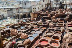 Tannerie de Fès, Maroc #fes #tannerie #maroc #voyage #travel